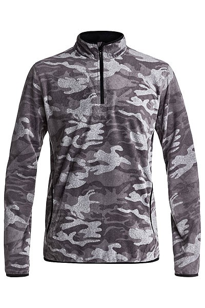 Флис QUIKSILVER AKER HZ FLEECE, Black Grey Camokazi