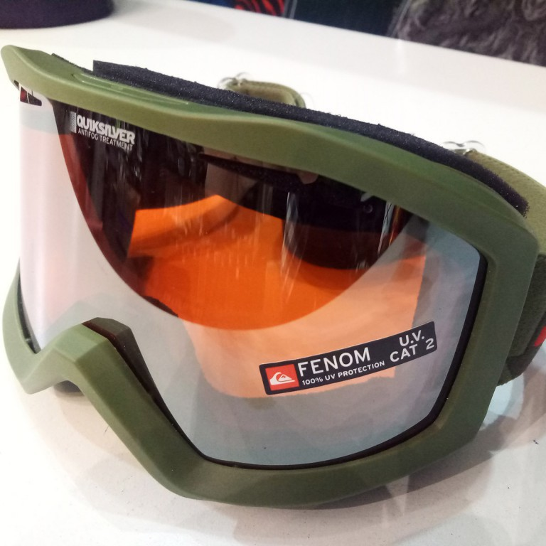 Маска QUIKSILVER FENOM MIRROR , Kha / Orange Chrome