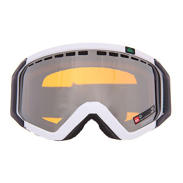 Маска QUIKSILVER Q1, Cowl White / Photochromic Orange