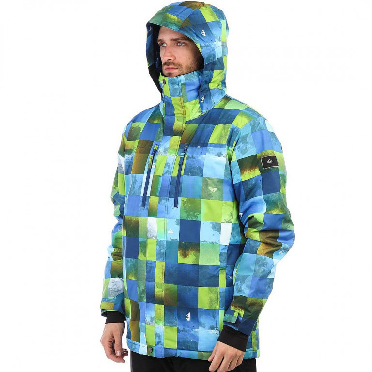 Куртка QUIKSILVER MISSION BLOCK, Blue Sulphur Icey Check