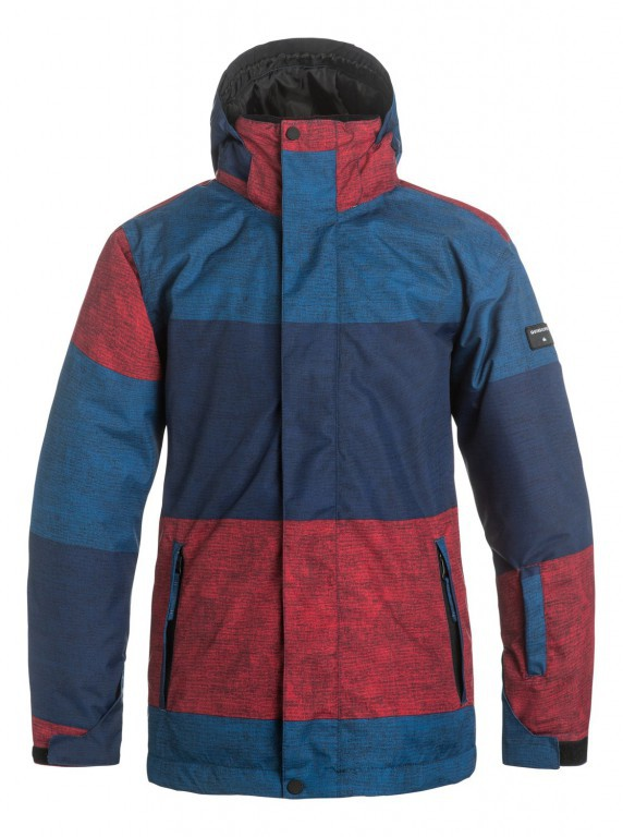 Куртка QUIKSILVER MISSION PRINT, Stripe Racing Red