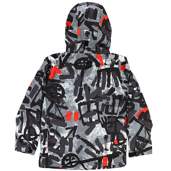 Куртка QUIKSILVER MISSION PRINTED YOUTH, Arkaid Black & White