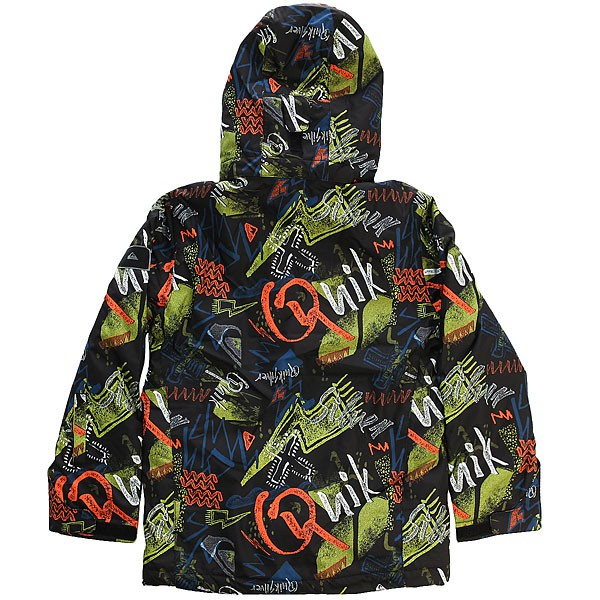 Куртка QUIKSILVER MISSION PRINTED YOUTH, Black Thunderbolt