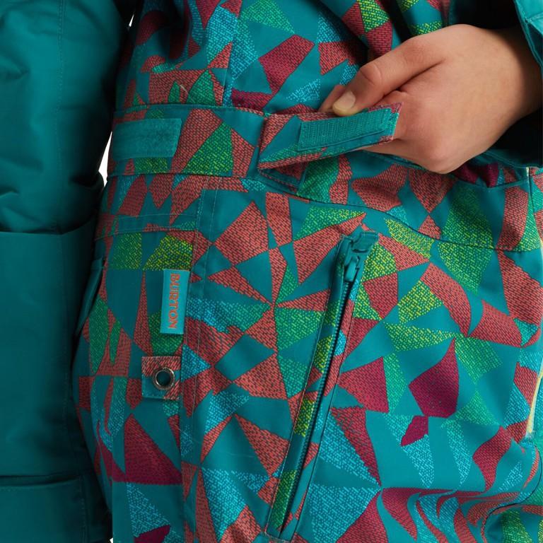 Комбинезон подросковый BURTON  G GAME PIECE OP, Green-Blue Morse Geo