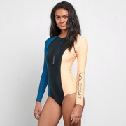 Купальник слитный VOLCOM  SYMPLY SOLID BODY SUIT, Ocean