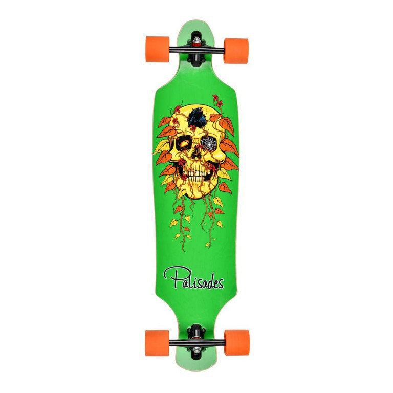"Лонгборд PALISADES SKULLY GREEN, 10""x39,5"""