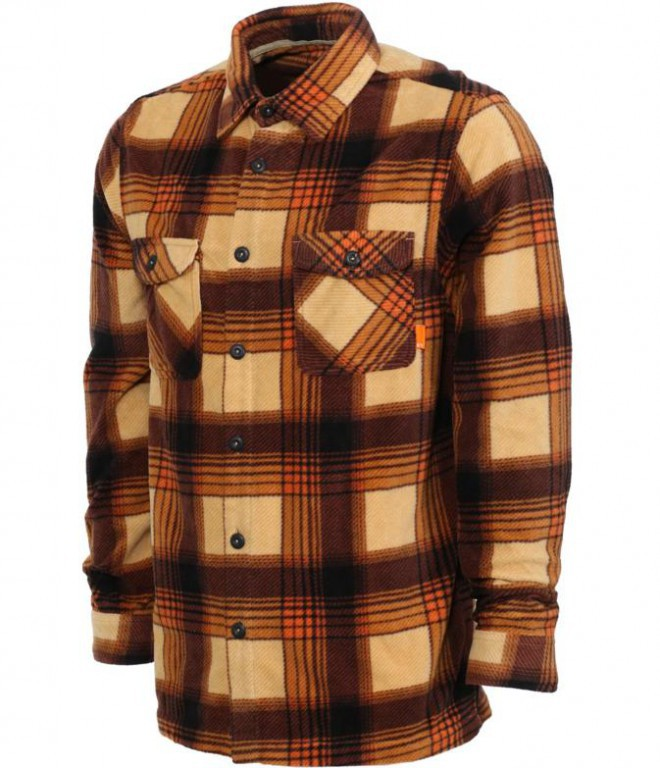 Флисовая Рубашка THIRTYTWO RESTSTOP POLAR FLEECE SHIRT, Tan