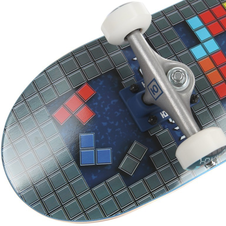 """Скейт в сборе ЮНИОН TETRIS, 7.6""""x31.25"""""""