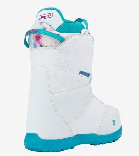 Ботинки для сноуборда BURTON ZIPLINE BOA 17-18, White/Frostberry