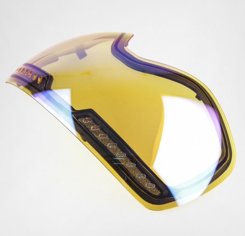 Маска DRAGON APXS, Aqua heather / Smoke Gold Ion + Yellow Blue Ion