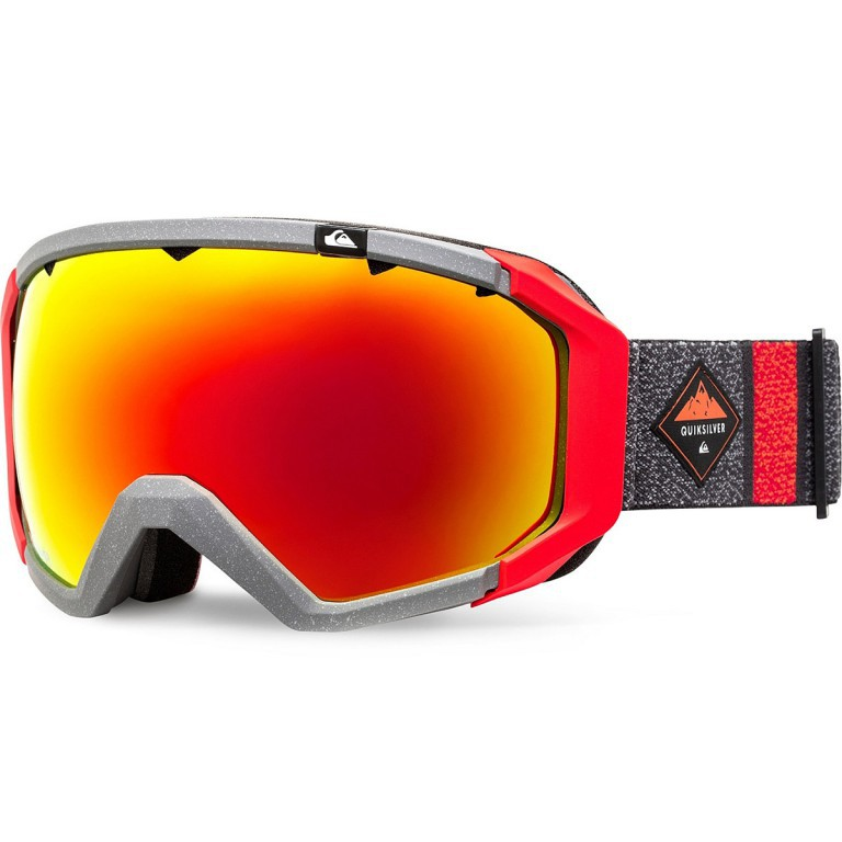 Маска QUIKSILVER Q2, Mandarin Red Double Striped / HD Brown + ML Red