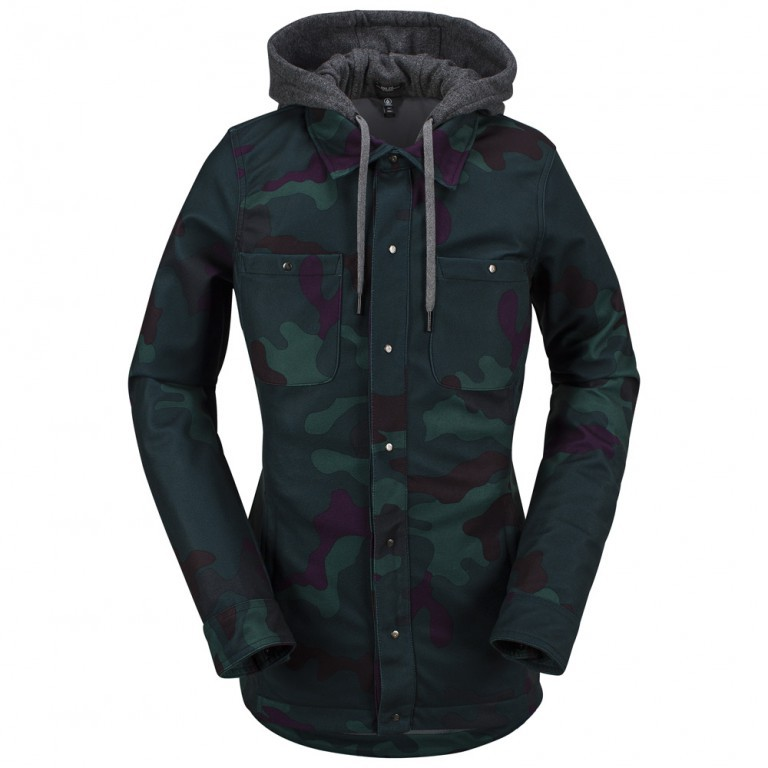 Куртка-Софтшел VOLCOM CIRCLE FLANNEL JKT, Dark Camo